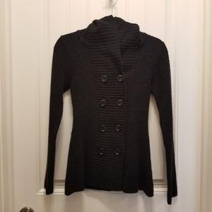 Mariposa button up lightweight hoodie medium black